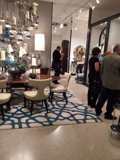 Loved the hand painted feel of this rug! #HPMkt #interiordesign