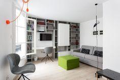 Estúdio de 19 m² em Paris conserva o charme do século XII (Foto: Fran Parente)