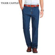 4d7edce605a4 Tiger Castle Spring Summer Men Jeans Slight Classic Denim Pants Male Washed  Baggy Blue Designer Jeans Man Casual Jeans For Men