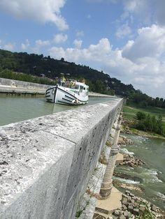 2010 : Canal Latéral (Toulouse-Bordeaux) Pont-Canal d'Agen, Lot et Garonne