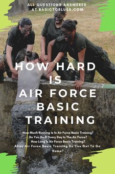Air Force bmt training can be challenging, but how challenging? Air Force basic training articles and Air Force training posts are helpful in preparing for bmt. Find out what you're getting into before you go. #basictoblues #airforcebasictraining #airforcebmt #airforcetraining