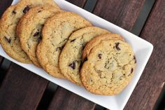 Perfectly chewy, crispy, not too-crunchy chocolate chip cookies