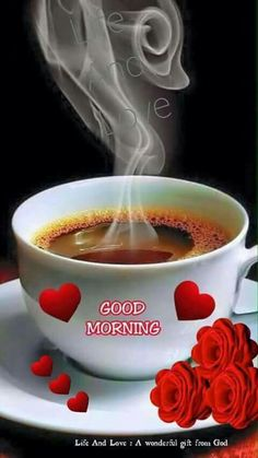 a beautiful Good Morning images - New Ideas Good Morning Coffee Gif, Good Morning Romantic, Good Morning My Friend, Latest Good Morning, Good Morning Cards, Good Morning Picture, Good Morning Greetings, Good Morning Images Flowers, Good Morning Roses