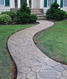 stamped concrete | Stamped concrete is low maintenance and beautiful! Unlike pavers ...
