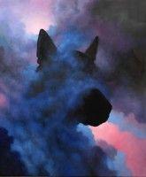 "Artist Samuli Heimonen ""Haze / Utu"" Acrylic and Oil on Canvas 120 cm x 100 cm 2016 Vide, Oil On Canvas, Batman, Superhero, Artist, Dogs, Painting, Fictional Characters, Design"