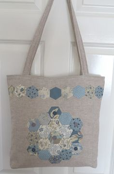 Blue Hexie Bag
