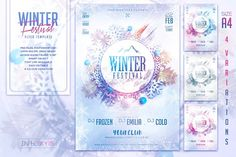 Winter Festival Flyer Template by InTheSky15 on @creativemarket