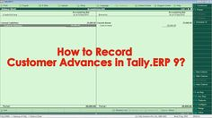 In Tally.ERP 9 Accounting Software we can record the Customer Advances using the Receipt Voucher and it will be display in the Balance Sheet after it is passed in your Company.