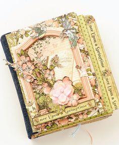 Spring Fairy Garden MiniAlbum by scrapologist on Etsy