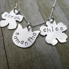 Mom Necklace  Sterling Silver Flower Bouquet by CamileeDesigns,