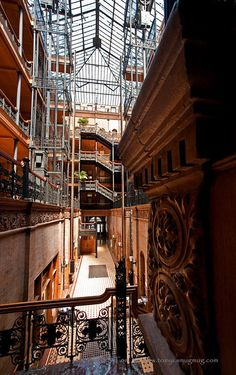 The atrium is phenomenal. This is possibly one of my favorite historic landmarks. The Bradbury Building in downtown LA.
