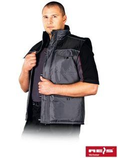BEZRĘKAWNIK OCIEPLANY ARIZONA SZARY+CZARNY - INTERNETOWY SKLEP BHP - artykuły i sprzęt bhp, odzież robocza, środki ochrony indywidualnej