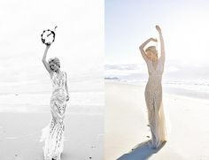 Flowing beach wedding dresses are perfect for a romantic celebration in the sand, and these handpicked styles are just right for any destination excursion.