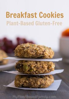 This Breakfast Cookies recipe is plant-based, gluten-free and allergy-friendly. These healthy breakfast cookies are perfect on the go.