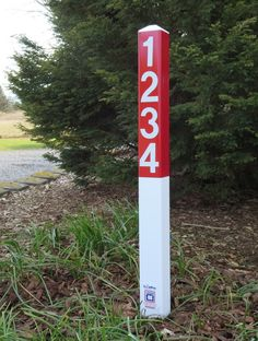 Items similar to Reflective Address Sign Yard Stake - Personalized House Number Driveway Marker on Etsy