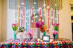 Colorido Kate Spade Inspirado Ideas NYE - www.theperfectpalette.com - Caitlin Thomas Fotografía, {} ELLA Shayla Hawkins Eventos