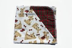 """Fetch Puppy Tyme Hemstitched Flannel Blanket Kit (Large 36"""" x 50"""")"""