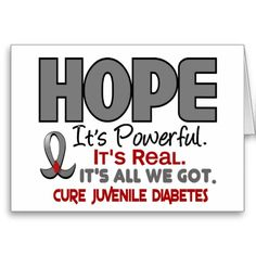 """Support every Child battling Juvenile Diabetes by promoting Juvenile Diabetes Awareness and advocating the Cure with Grey Ribbon t-shirts and gifts from our popular HOPE Collection.  Perfect for Juvenile Diabetes Awareness Month, Juvenile Diabetes Awareness Walks, Juvenile Diabetes Support Events, or anytime!  VISIT <a href=""""http://www.zazzle.com/awarenessgifts""""><font color=Blue>Awareness Gift Boutique's Zazzle Gallery</a> TO SEE MORE EXCLUSIVE JUVENILE DIABETES AWARENESS DESIGNS FOUND ONLY…"""