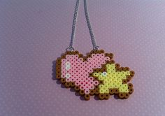 Kawaii Heart and Star perler beads Necklace