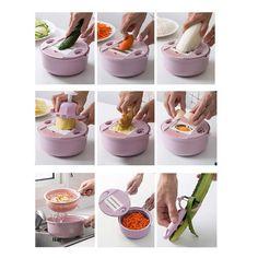 Mandolin Slicer Cutter Chopper and Rallador – Smart Explore Cool Kitchen Gadgets, Kitchen Hacks, Kitchen Tools, Cool Kitchens, Kitchen Stuff, Diy Kitchen, Potato Slicer, Mandolin Slicer, Grater