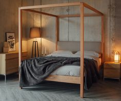 Four poster bed from Natural Bed Company - The Highland. #masterbedroom