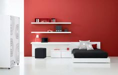 red wall room