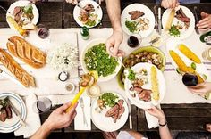 Dinner party  (What Katie Ate: Real Living Australia Day Shoot)