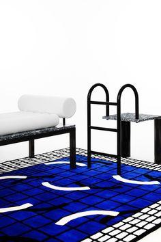 Pool-inspired carpet / Malak Mebkhout — Countach Studio.  photo : ©David Marvier