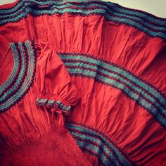 """""""From my private collection- #vintage #cotton #ricrac #dress #circa1950s #Mexico #fashionista #VintageClothing"""""""