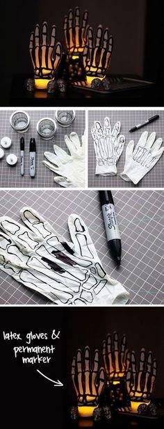 Glowing Skeleton Hands: