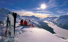 ski the swiss alps