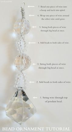LiveLoveDIY: Easy Christmas Crafts: Beaded Crystal Ornaments