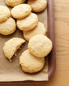 Cornmeal Cookies. Swap out the all-purpose flour for brown rice and potatoe flour, and add an egg for gluten free.