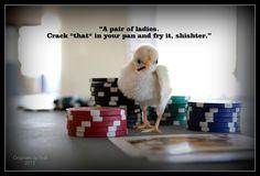 Peeps playing poker