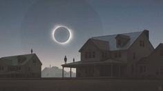 Solar Eclipse, Yuri Shwedoff on ArtStation at https://www.artstation.com/artwork/solar-eclipse