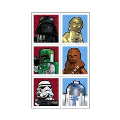 LEGO Star Wars Party Favor Stickers