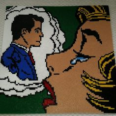‎Roy Lichtenstein hama perler beads by nicolema85