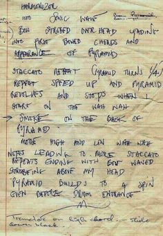 Jimmy's notes for Dazed and Confused.