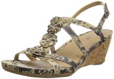 a480bf1998ef Naturalizer Sudi Womens Size 8 Tan Faux Leather Wedge Sandals Shoes    Read  more at the image link.