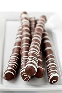Dark Chocolate Covered Pretzel Rods