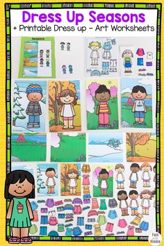 Printable Dress up activities for preschoolers, paper doll dress up, weather bear, weather dress up activities Hand Crafts For Kids, Easy Arts And Crafts, Craft Projects For Kids, Art Projects, Art Worksheets, Worksheets For Kids, Preschool Activities, Motor Activities, Preschool Weather
