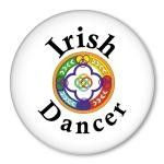 IRISH DANCER - pinback badge