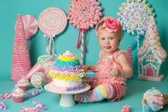 Candyland cake smash, Cleveland baby photographer, Katherine Chambers Photography, www.katherinechambers.com   Katherine Chambers Photography