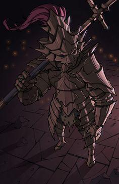 Dragon slayer Ornstein :: DS art :: DS персонажи :: Dark Souls :: hi-res :: фэндомы Sif Dark Souls, Dark Souls Art, Dark Blood, Old Blood, Dibujos Dark, Dragon Tattoo Art, Soul Saga, Praise The Sun, Bloodborne