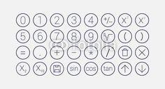 Vektor: modern mathematics line icon set