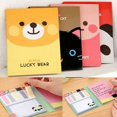 One Animal Cute Sticker Post-It Bookmark Point It Marker Memo Flags Sticky Notes