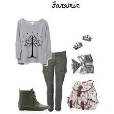 LotR: Faramir, created by smithy2012 on Polyvore <<== okay now that's cool. First LOTR outfit I've found!