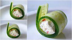 Aleksandra's Recipes: Cucumber rolls with feta and chilli