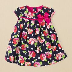 newborn - girls - dotted floral dress | Children's Clothing | Kids Clothes | The Children's Place