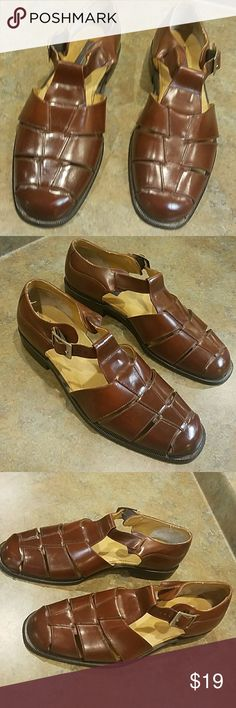 Giorgio Brutini Brown Leather Sandals 9.5 D Excellent condition.  STILL LIKE NEW!! Giorgio Brutini Shoes Sandals & Flip-Flops